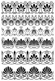 Vintage Black And White Ornamental Borders With Ornate Floral; Victorian  designs ...