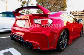 subaru brz red with spoiler. Fine Spoiler Primer Unpainted FRP Car Rear Trunk Spoiler Wing For Subaru BRZ And TOYOTA  GT86 FT86 ZN6 Drilling Neededin Spoilers U0026 Wings From Automobiles Motorcycles  With Brz Red A
