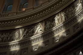 frieze of american history architect of the capitol united  a portion of the frieze of american history as seen in the rotunda of the u s