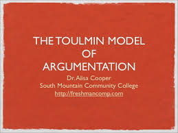 slide show of the toulmin model of argumentation crwt dan s  toulmin method sample essay papers tips for essays and research papers argument toulmin argumentation is a model of argument which