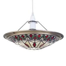 free delivery large view stained glass ceiling light shade