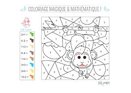 Coloriage Magique Et Math Matique Le Singe Momes Net