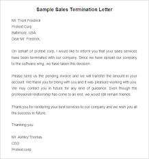 sales rep termination letter sample termination letter printable staff termination letter free