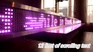 Diy Light Sign Board Build A Giant Scrolling Led Text Display For About 15 Per