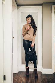 how to wear leather leggings 3
