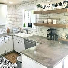 cement kitchen countertops concrete kit complete