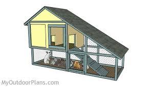 rabbit house plans. Free Rabbit Hutch Plans House