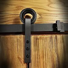 barn door hardware slide rail system for sliding door wheel on hanger loftmarkt