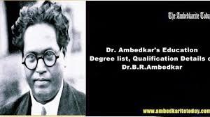 dr ambedkar s education degree list