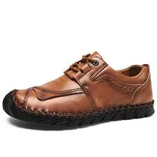 <b>Men's Four Seasons</b> Lace-up Handmade Leather Driving <b>Shoes</b> ...