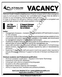 It Support Manager Tayoa Employment Portal