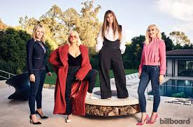 from left chelsea handler christina aguilera shelli azoff and gwen stefani photographed on