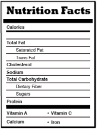 blank nutrition label template word free for windows