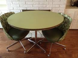 Find More Groovy Kitchen Table And Swivel Chairs On Rolling Casters