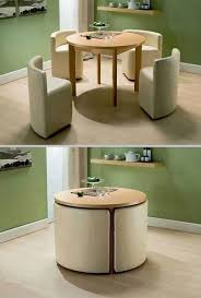 how to choose modern furniture for small spaces round dining table with chairs space saving