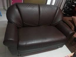 2 seater brown leather sofa 2nd hand