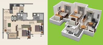 2 bhk 600 sq ft apartment for in