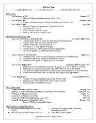 School Administrator Resume Example