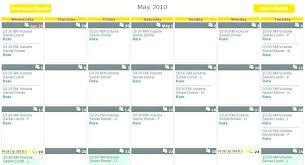 Server Schedule Template Restaurant Employee Schedule Template