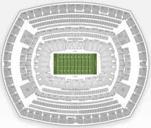 Detailed Seating Chart Giants Stadium New York Giants