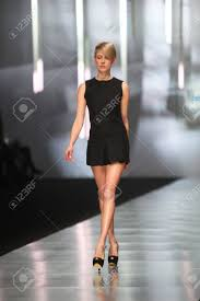ZAGREB, CROATIA - MARCH 14 Fashion Model Wears Clothes Made.. Stock Photo,  Picture And Royalty Free Image. Image 18479875.