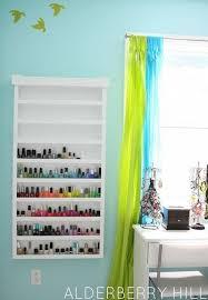 nail polish shelf diy nail polish rack ideas see more at s
