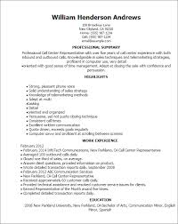 Resume For Call Center Wwwbuzznowtk Impressive Example Of A Call Center Resume