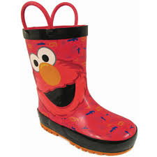 Elmo Light Up Shoes Sesame Street Elmo Red Rain Boots Shoes Ses501 8 9 10 Red