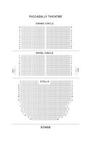 Pretty Woman Seating Chart Piccadilly Theatre London Seat Guide And Chart