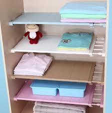 adjule closet organizer storage shelf 42cm wall mounted kitchen rack space saving wardrobe decorative shelves cabinet