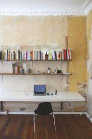 Diy fitted office furniture Pro Murphystyle Wallmounted Desk Homedit 20 Diy Desks That Really Work For Your Home Office