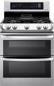 E Ft Gas SelfCleaning Freestanding Double Oven Range With