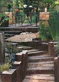garden design using sleepers. projects with railway sleepers and reclaimed materials photo 25 garden design using d