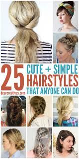 Cute Simple Hairstyles For Medium Hair Highlights Hair