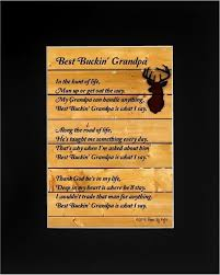 father s day gift for grandpa best buckin grandpa poem 8x10 single matted poetry deer hunting gift for dad or grandpa midnight black mat check out
