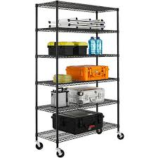 new 6 tier wire shelving unit nsf metal shelf rack 2100 lbs capacity 18 x48