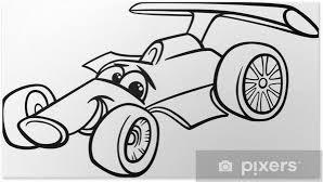 Poster Raceauto Bolide Kleurplaat Pixers We Leven Om Te Veranderen