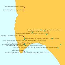 North Island Depth 14ft San Diego Bay California Current