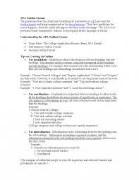 Research Paper Samples Examples Of Outlines For Papers In Apa Format