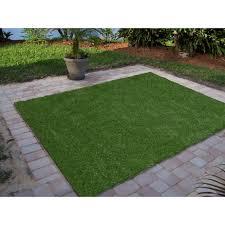 Ottomanson Garden Grass Collection IndoorOutdoor Artificial Solid
