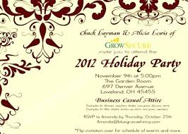 Holiday Party Invitation Verbiage Sample Invitation Wording For