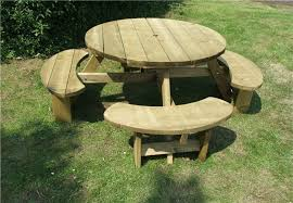 winchester 8 seat treated round picnic table wrb38g15 bulk 6