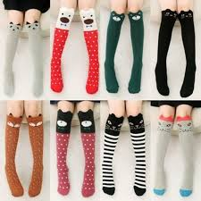 New <b>Fashion Design Cartoon</b> Cotton Knee High Middle Tube Socks ...
