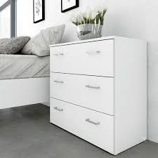Schlafzimmer Kommode Bironda In Weiß Mit 3 Schubladen