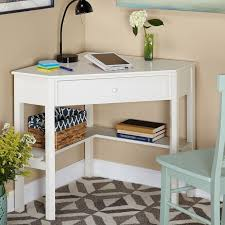 create a functional office space in a tight corner with the simple living antique computer desk this classically styled desk utilizes a small space for a