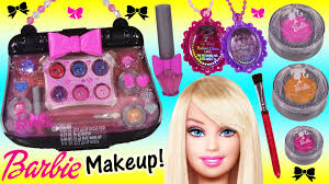 barbie purse perfet makeup case lip gloss shimmer cream blush barbie f lip gloss jewelry you