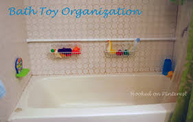 hooked on organization bath toy storage