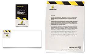 Construction Company Letterhead Template Simple Construction Letterheads Templates Design Examples