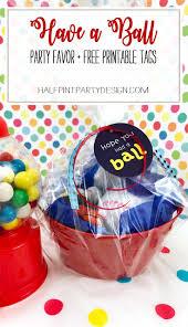 Ball Party Favor DIY + Free Printable Tags