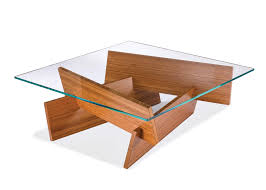 wooden coffee table with glass top uk wood hand affixed slated coffee table with glass top by percival lafer